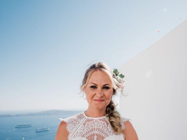 Jon and Jan's Wedding in Oia, Greece 11