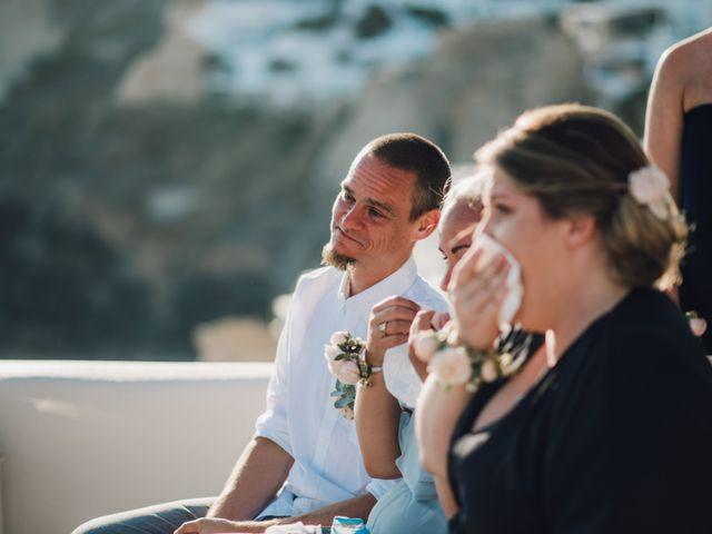 Jon and Jan's Wedding in Oia, Greece 16