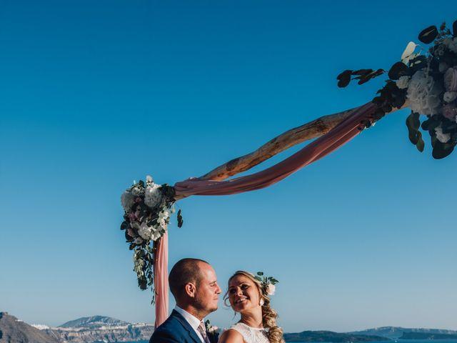 Jon and Jan's Wedding in Oia, Greece 19