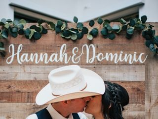 The wedding of Hannah and Dominic 1