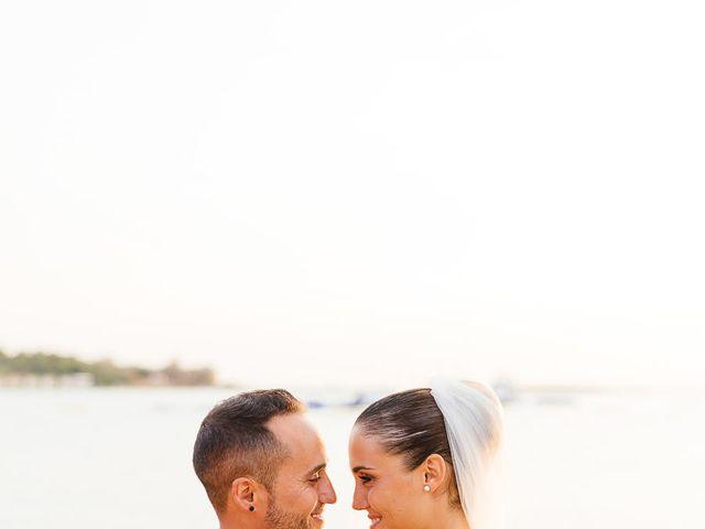 The wedding of Christian and Melania