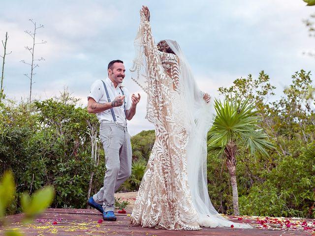 James and Priscilla's Wedding in Akumal, Mexico 75