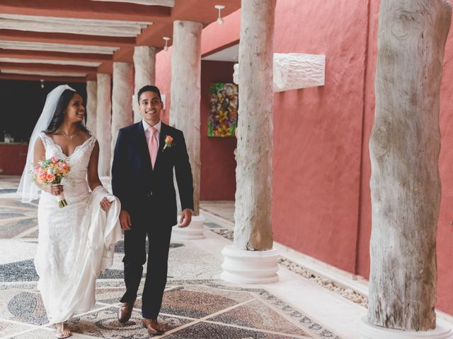 Newaf and Aidi's Wedding in Cancun, Mexico 37