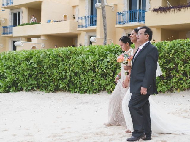 Newaf and Aidi's Wedding in Cancun, Mexico 43
