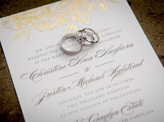 The wedding of Christine and Justin 2