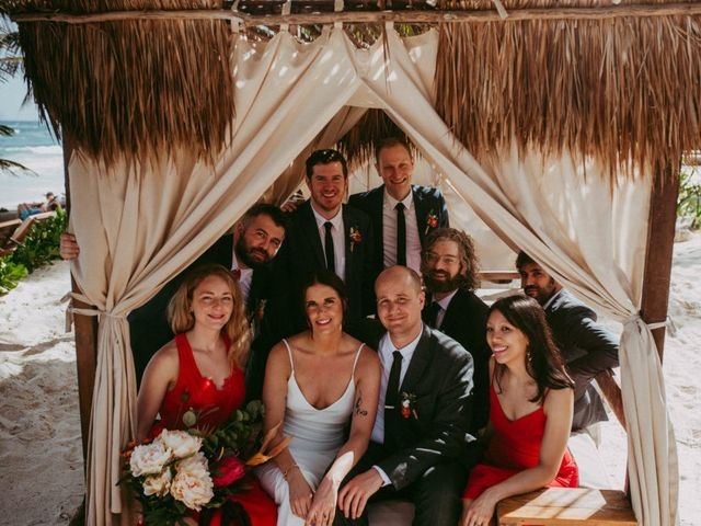 Hans and Agatha's Wedding in Tulum, Mexico 46
