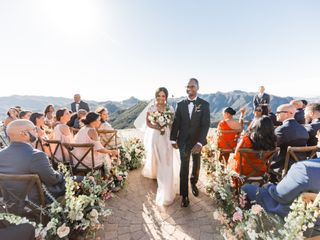 The wedding of Iman and Clairmont