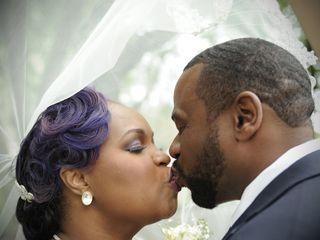 The wedding of Theresa and James