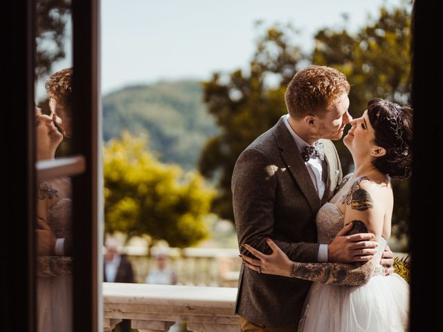 The wedding of David and Vikki
