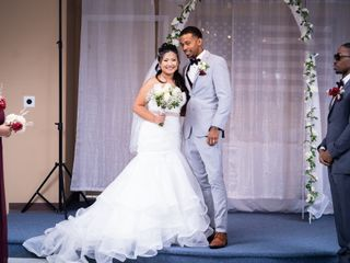 The wedding of Angela and Isaiah