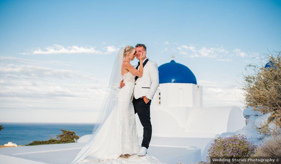 Scott and Paulina's Wedding in Santorini, Greece