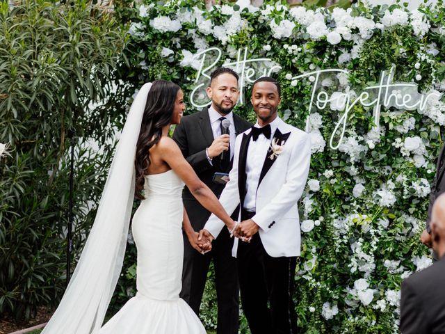 Jazmyn and Mychal's Wedding in Porter Ranch, California 9