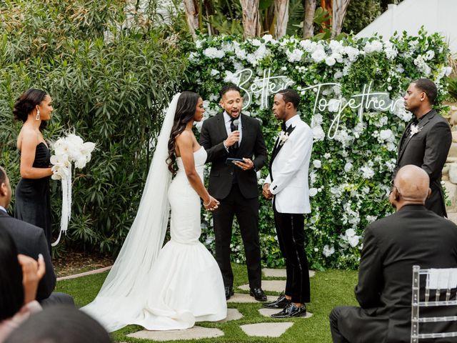 Jazmyn and Mychal's Wedding in Porter Ranch, California 65