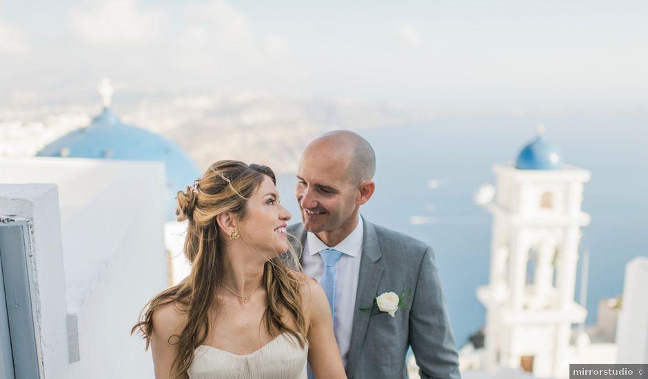 Brad and Katie's Wedding in Santorini, Greece