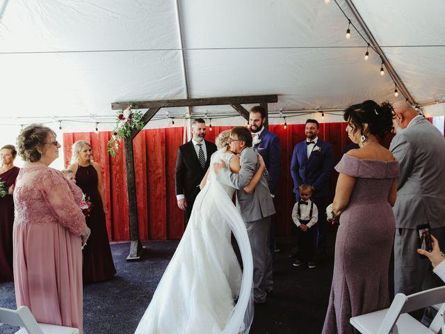 Alisa and Rob's Wedding in Rome, Pennsylvania 11