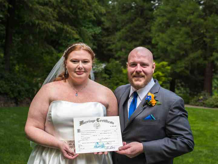 The wedding of Laura and Jeremy