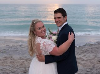 The wedding of Sarah and Tom