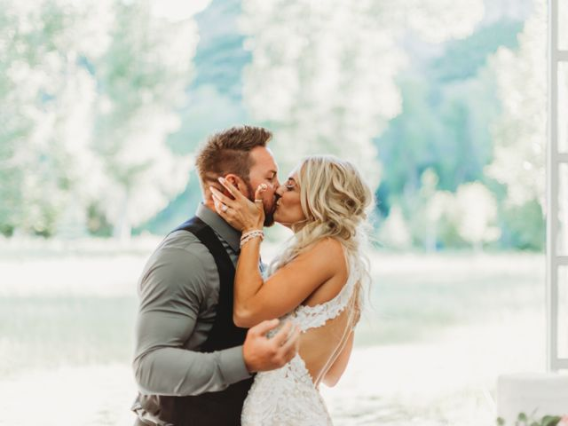 The wedding of Casey and Justin