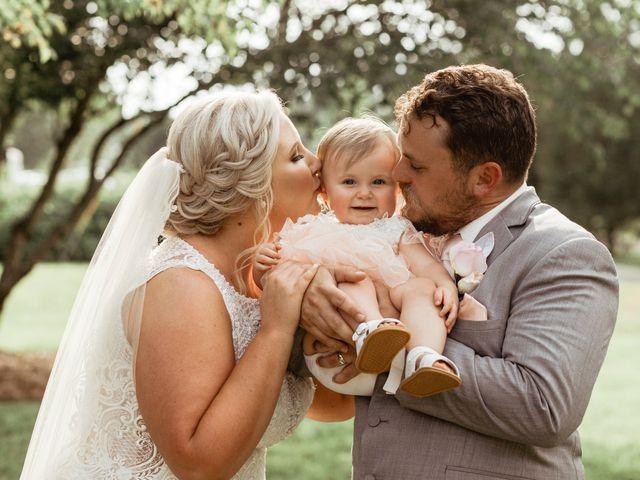 The wedding of Caroline and Brad