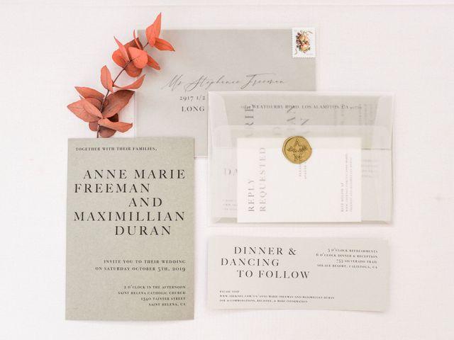 Max and Anne Marie's Wedding in Calistoga, California 3