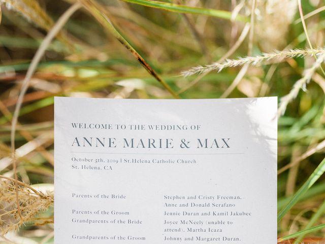 Max and Anne Marie's Wedding in Calistoga, California 9