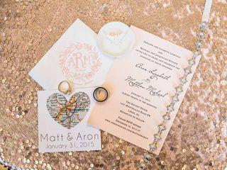 The wedding of Matt and Aron 2
