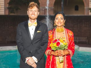 The wedding of Utsha and John