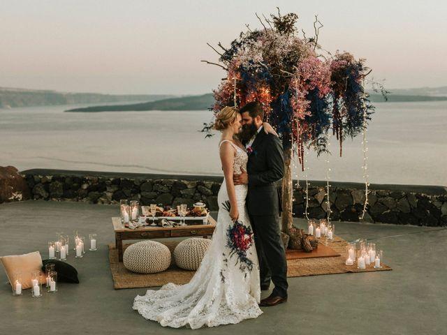 Azelin and Paul's Wedding in Santorini, Greece 1