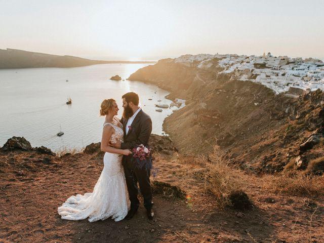 Azelin and Paul's Wedding in Santorini, Greece 5