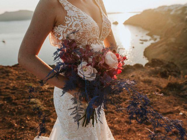 Azelin and Paul's Wedding in Santorini, Greece 6