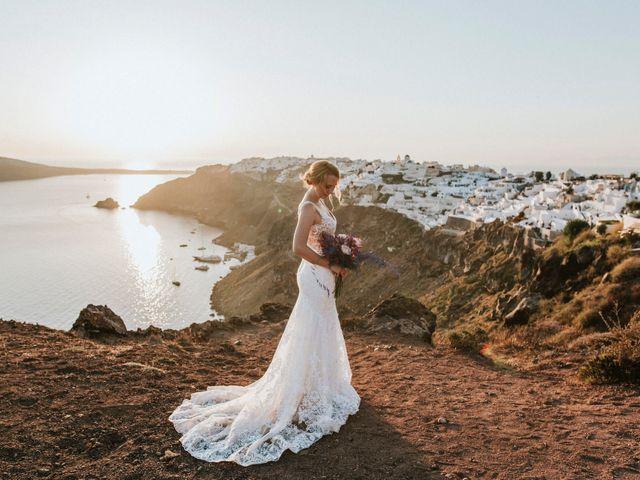 Azelin and Paul's Wedding in Santorini, Greece 7