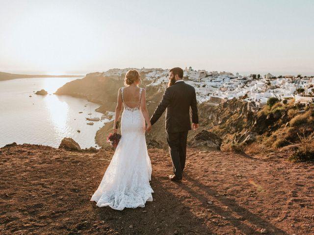 Azelin and Paul's Wedding in Santorini, Greece 8