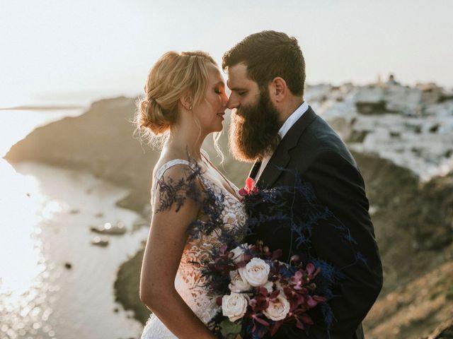 Azelin and Paul's Wedding in Santorini, Greece 10