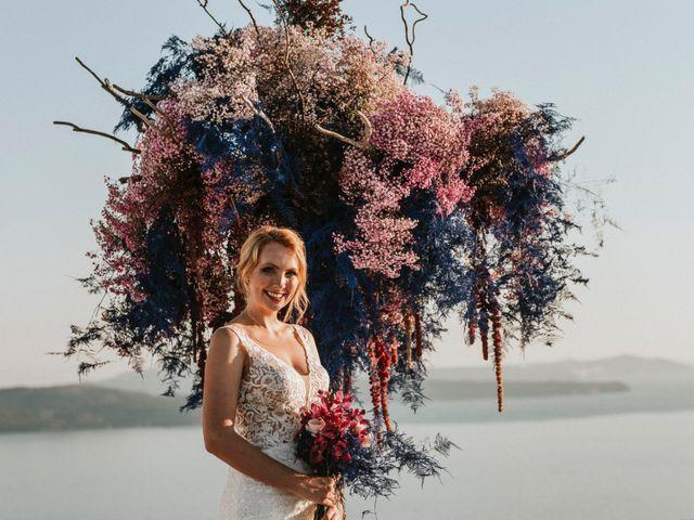 Azelin and Paul's Wedding in Santorini, Greece 14