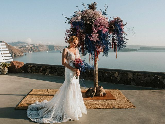 Azelin and Paul's Wedding in Santorini, Greece 15