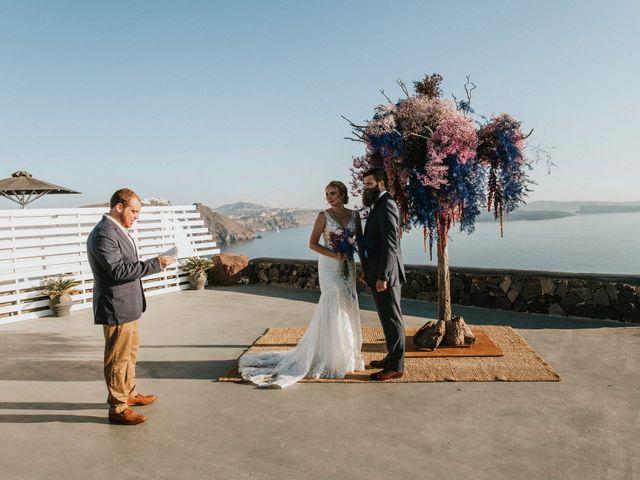 Azelin and Paul's Wedding in Santorini, Greece 20