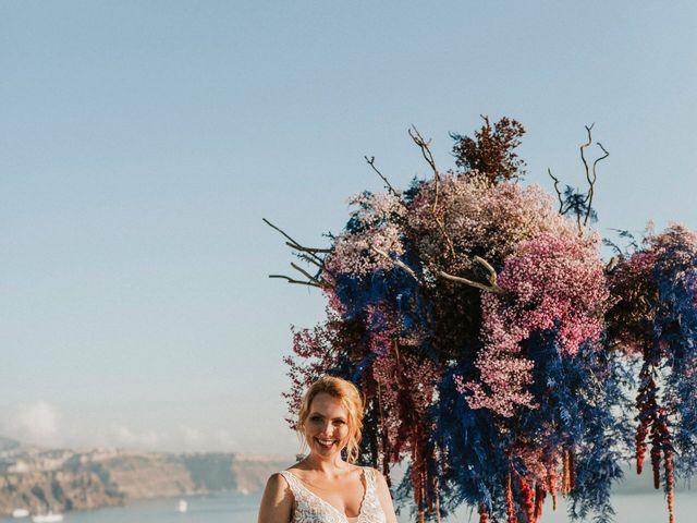 Azelin and Paul's Wedding in Santorini, Greece 21