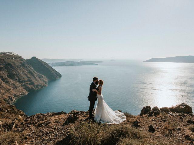 Azelin and Paul's Wedding in Santorini, Greece 22