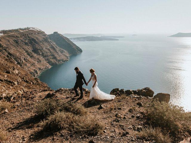 Azelin and Paul's Wedding in Santorini, Greece 23