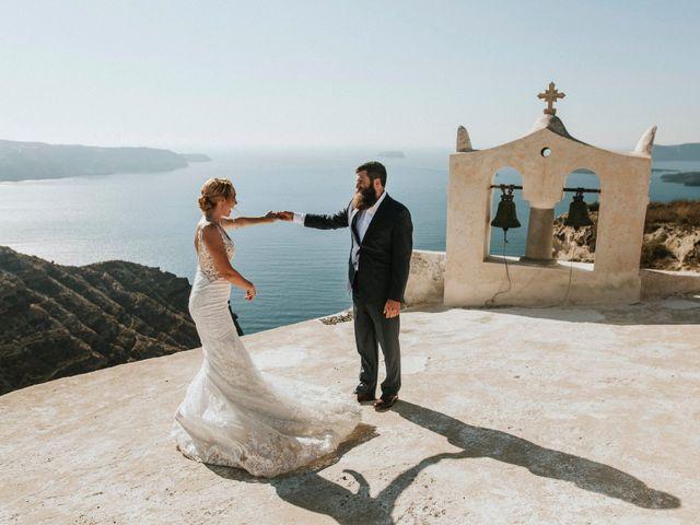 Azelin and Paul's Wedding in Santorini, Greece 24