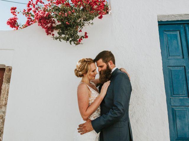 Azelin and Paul's Wedding in Santorini, Greece 26