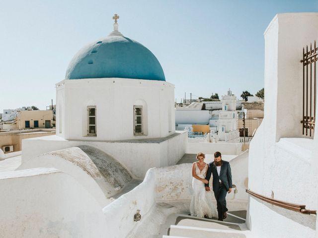 Azelin and Paul's Wedding in Santorini, Greece 27