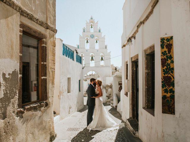 Azelin and Paul's Wedding in Santorini, Greece 29