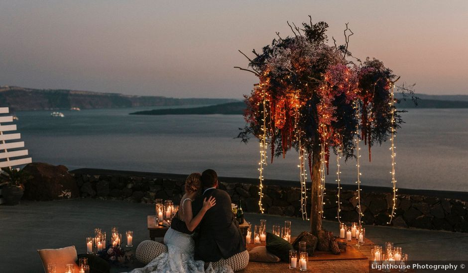Azelin and Paul's Wedding in Santorini, Greece