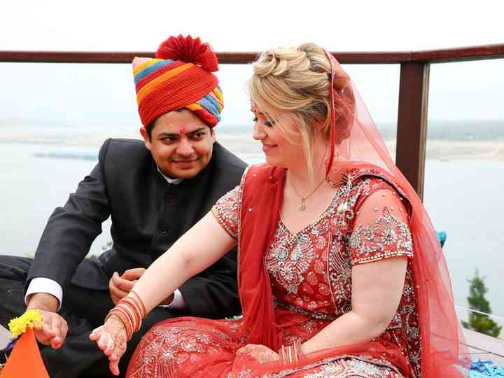 The wedding of Aadhar and Whitney