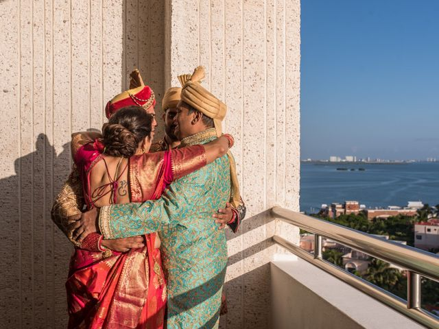Rikesh and Pooja's Wedding in Cancun, Mexico 15