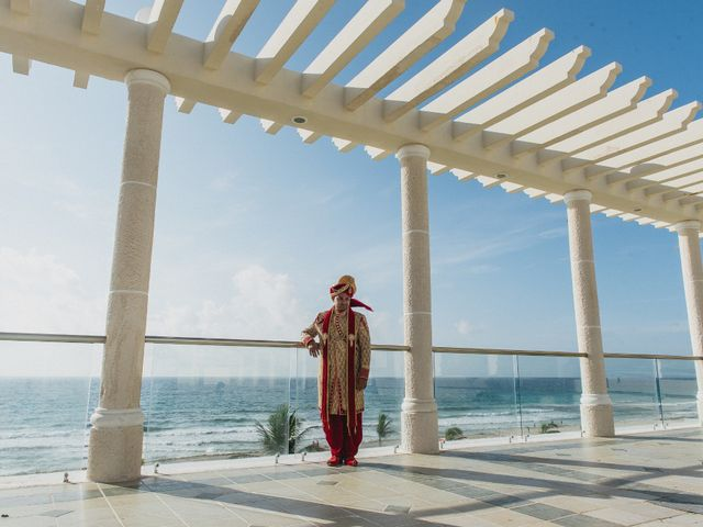 Rikesh and Pooja's Wedding in Cancun, Mexico 23