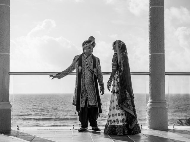 Rikesh and Pooja's Wedding in Cancun, Mexico 25