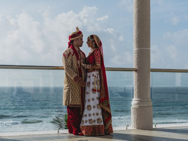 Rikesh and Pooja's Wedding in Cancun, Mexico 26