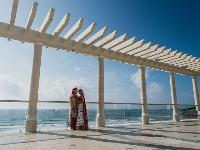 Rikesh and Pooja's Wedding in Cancun, Mexico 27
